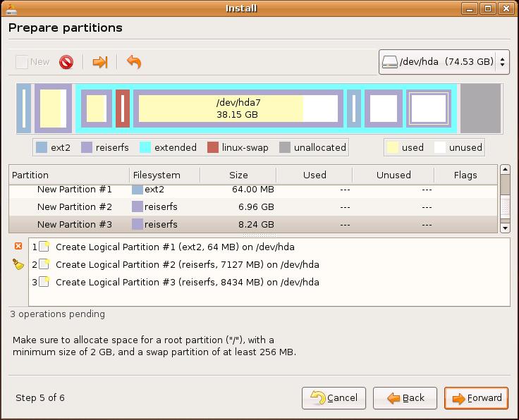 Dapper Install: partitioning jobs