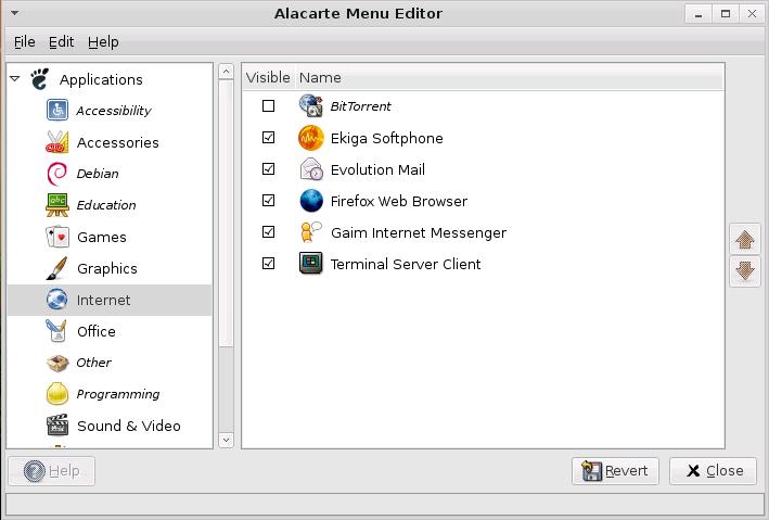 Dapper Desktop: Alacarte Menu Editor
