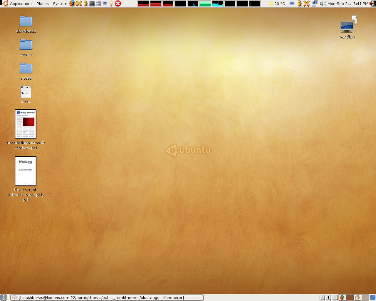 My current sunny desktop