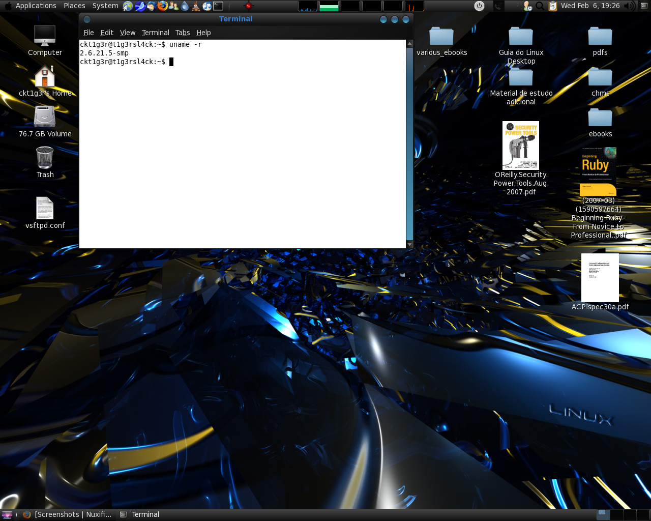 slackware 12.0 with gslacky 2.20.3