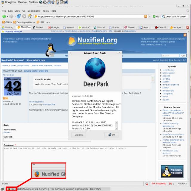 Firefox & Deerpark logo debate
