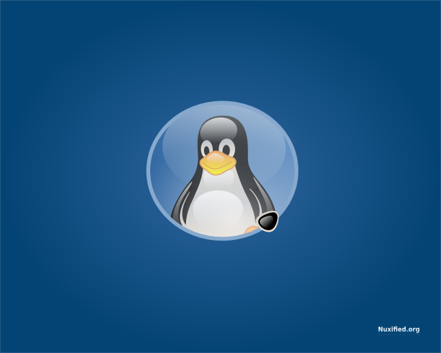 Nuxified Desktop Tux Wallpaper