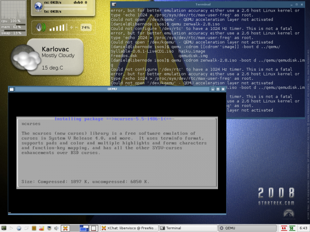 Installing Zenwalk in Qemu