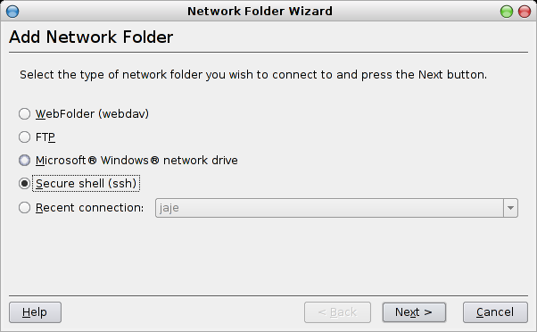 Network Folders Wizard