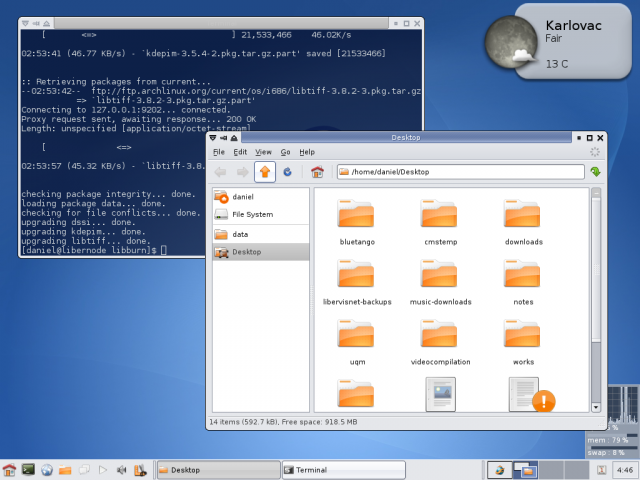 Xfce4.4 and Ubuntulooks powered theme